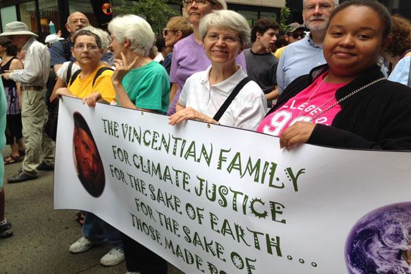 Sisters of Saint Elizabeth participate in Climate Change March in NYC